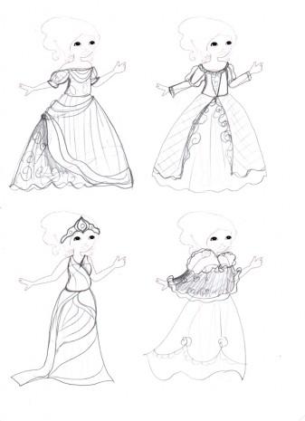 les croquis de mes robes de princesses 3