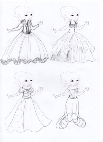 les croquis de mes robes de princesses 4