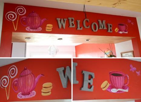 fresque de la cuisine welcome