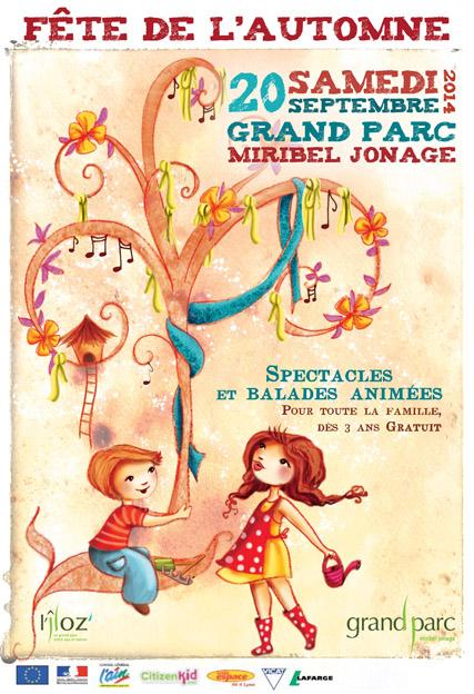 Illustration de l'affiche pour la fête de l'Automne