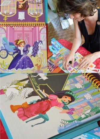 les illustrations des  princesses musiciennes