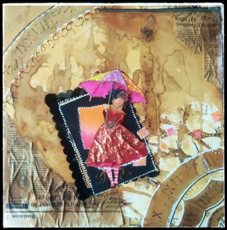 """Voici ma toile sur le thème """"le temps met tout en lumière"""" pour le salon de st Priest-Taurion dont je suis l'invitée d'honneur qui aura lieu du 11 au 17 avril."""