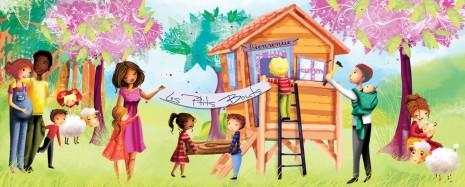bannière pour les ptits bouts association pour répondre aux besoins des parents et de leurs enfants