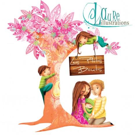 logo les ptits bouts association pour répondre aux besoins des parents et de leurs enfants