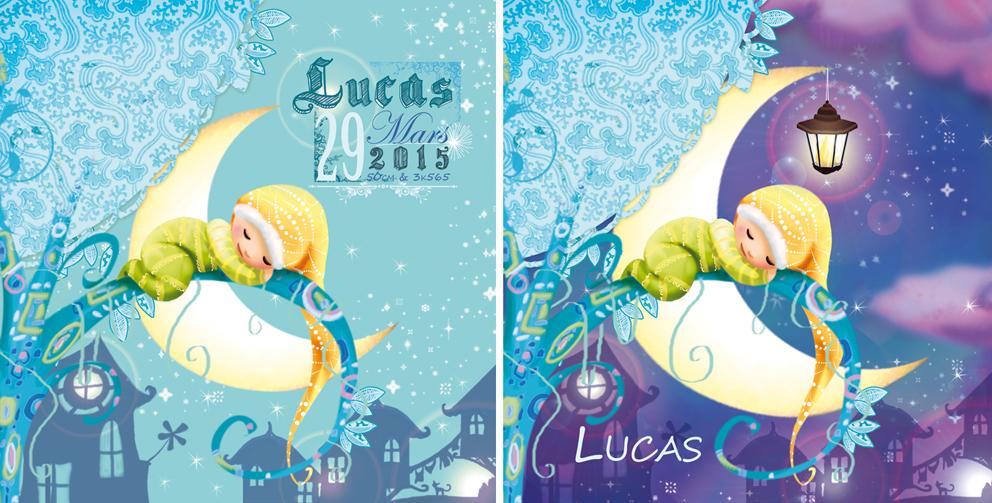faire-part de naissance du petit Lucas