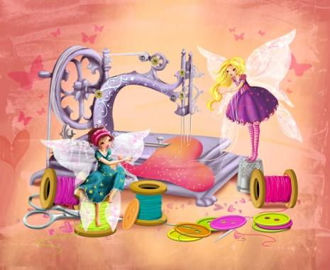 l'illustration sur le thème de la couture