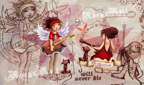 illustration rock en couleur