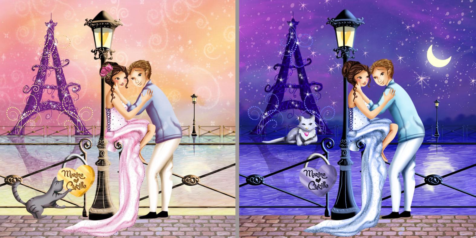 Des illustrations où l'amour et la famille illumine les coeurs