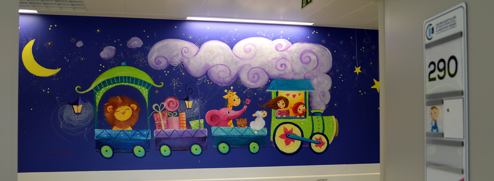 Fresques murales pour l'hôpital de Villeneuve st Georges
