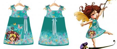 essai de petite robe avec mes motifs