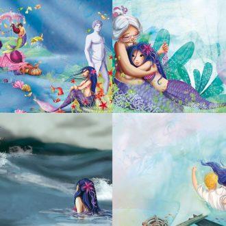 Illustrations jeunesse de la petite sirène