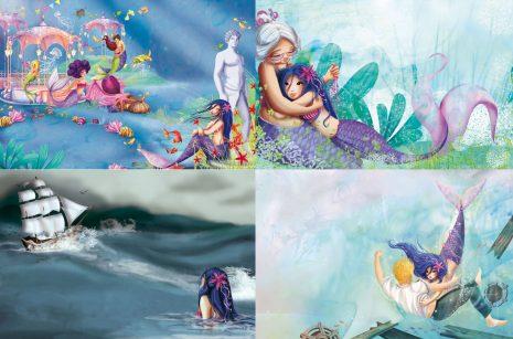 Illustrations jeunesse de la petite sirène de Laure Phelipon aux éditions Piccolia