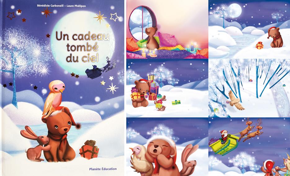 Mes illustrations pour un livre jeunesse de noël