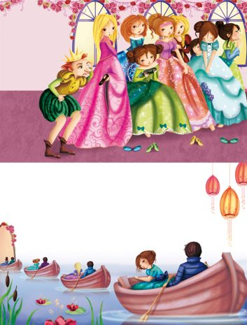 illustrations du bal des 12 princesses