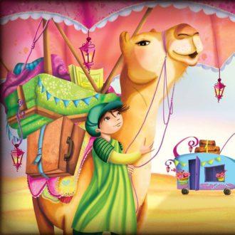 garçon et son chameau complices