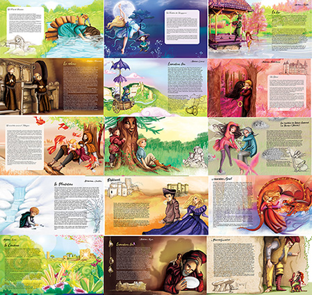 Une fresque murale et un livre de 25 textes et 25 illustrations