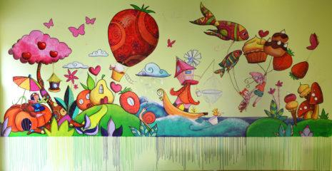 Fresque réalisé par les enfants de st auvent