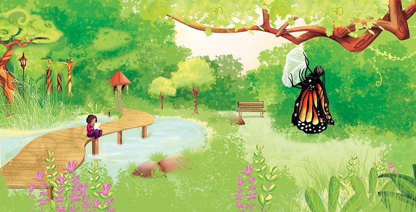 Cette illustration de la chenille transformée en papillon pour vous demander si vous croyez au destin ?