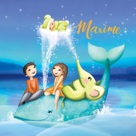 Des faire-part de naissance une illustration pour Disney girl et une aquarelle