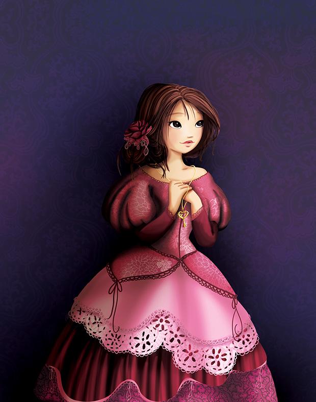 Faire-part de naissance une illustration pour Disney girl et une aquarelle