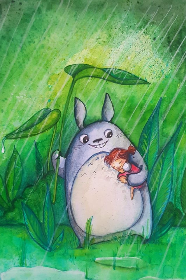 Fan art Totoro par Laure Phelipon