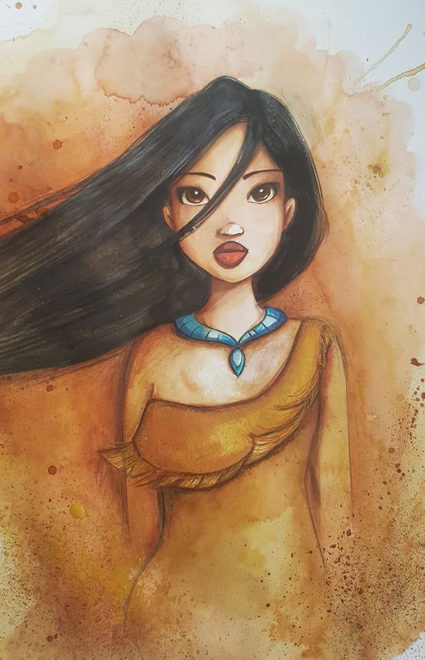 Fan art Pocahontas par Laure Phelipon