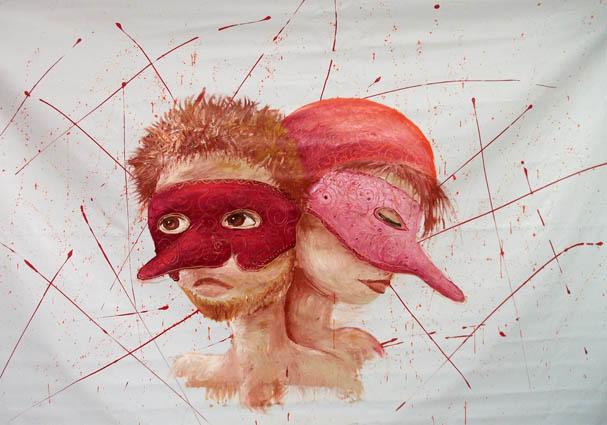 Une fresque sur la comedia del arte