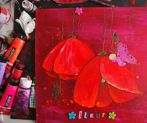 peinture acrylique pour une petite fille