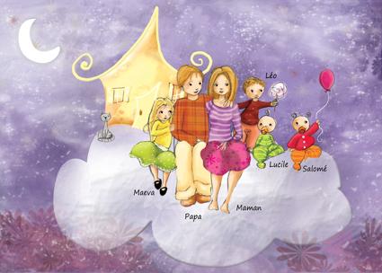 illustration : faire-part de naissance