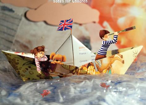 Illustration de pochette CD : chansons pour enfants