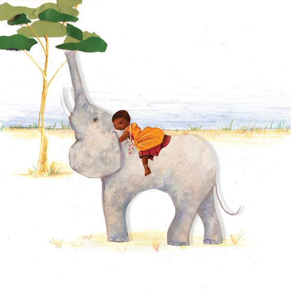 Illustrations d'une petite Massaï