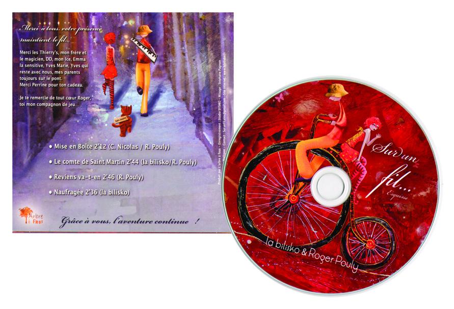 Création de la pochette CD