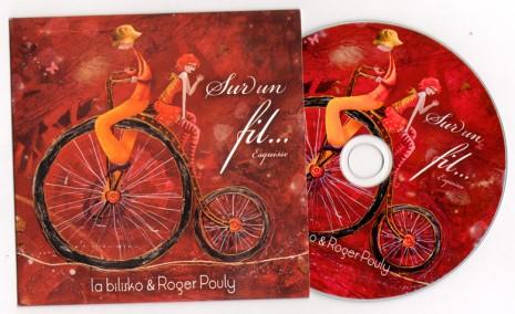 création pochette CD illustration sur velo
