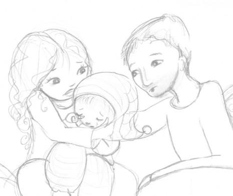 illustration enfant pleure dessin trait