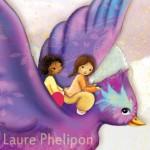 petites princesses qui volent sur le dos d'un oiseau illustratrice laure phelipon