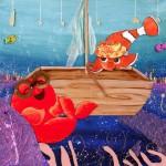 les petits poissons dansent et s'amusent sous l'océan