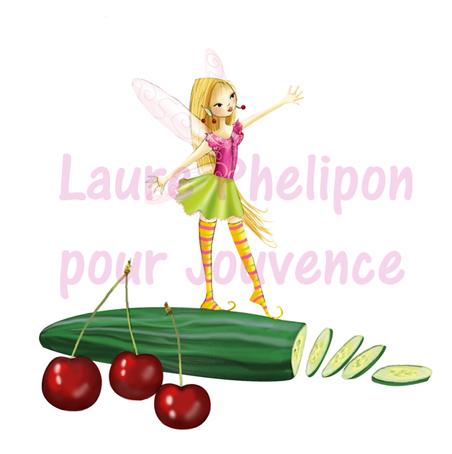 illustration de fée de fruit et légume