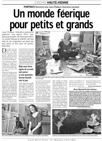 illustratrice laure phelipon dans le journal