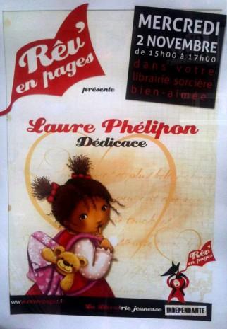 affiche dédicaces laure Phelipon