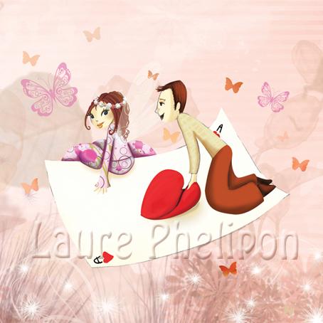 Illustration pour un faire-part de mariage