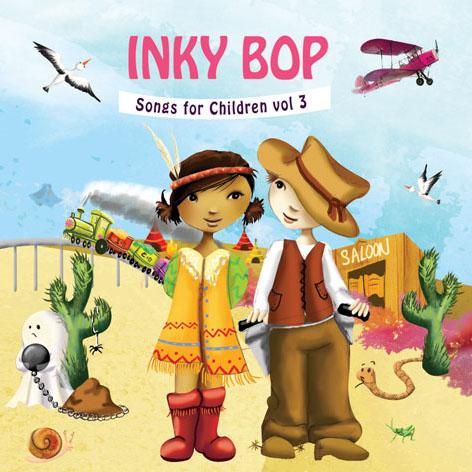 Illustration pour un CD de chansons pour enfants