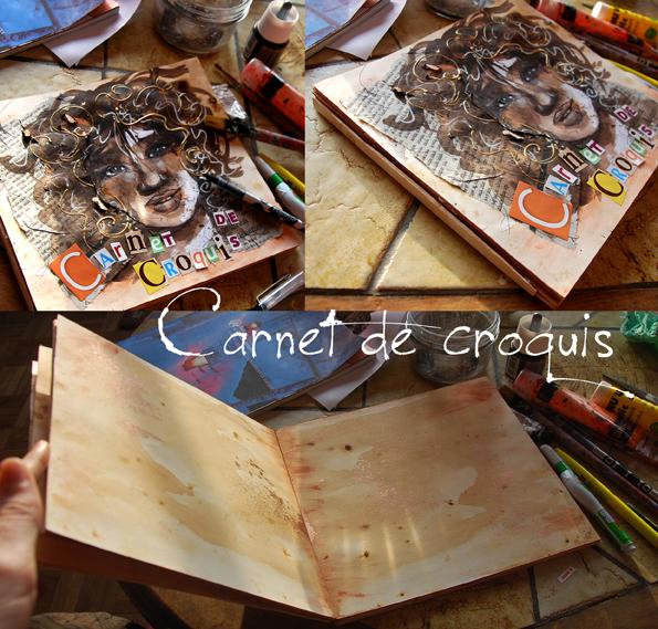 couverture carnet de croquis portrait de femme