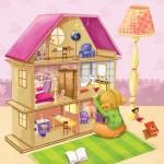 illustration d'une maison de poupée