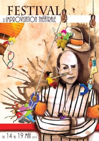 affiche du festival de l'improvisation théâtrale Limoges
