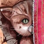 peinture et illustration de chat dans mon carnet de croquis