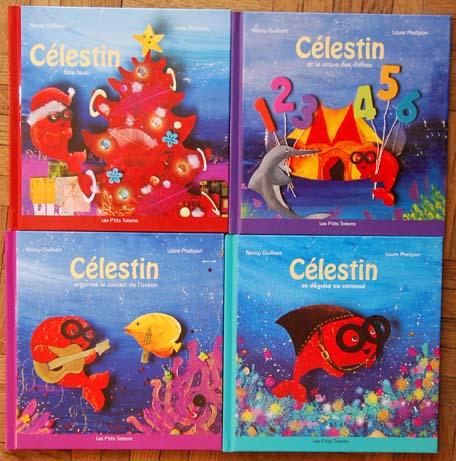 les livres de Célestin le poisson rouge