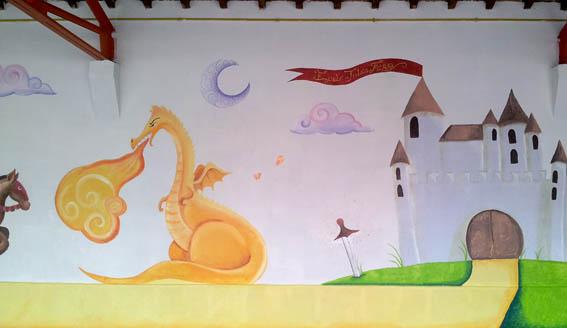 Nouvelles fresques pour l'école de la ville Dieu Du Temple