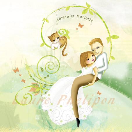 Faire-part de mariage bucolique et romantique