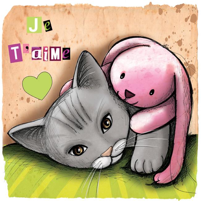Nouvelles illustrations de chats avec des doudous