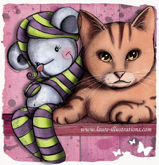 encore des illustrations de chats et de doudous